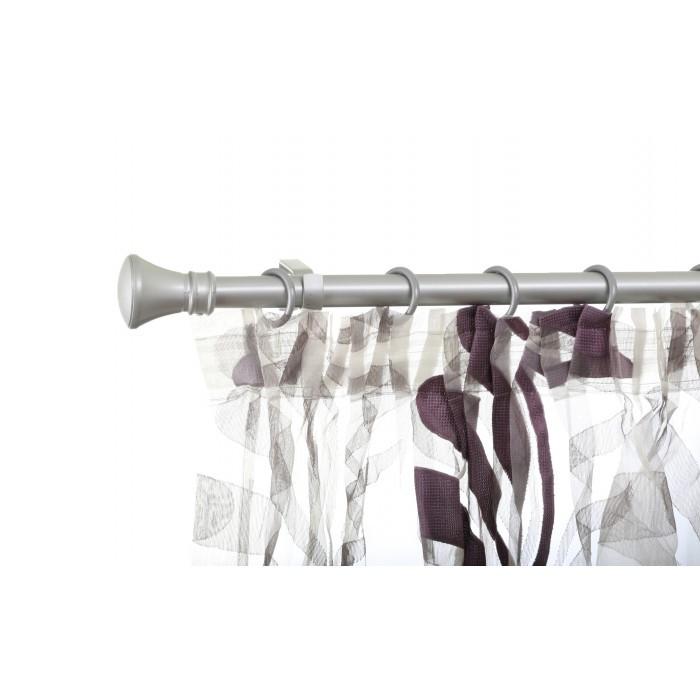 Разтегаем корниз Тиара комплект 120-220см сребро мат