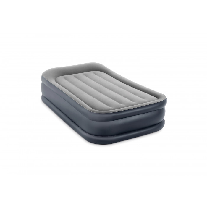 Надуваем дюшек с електрическа помпа Intex Delux Pillow Rest 99x191x42см