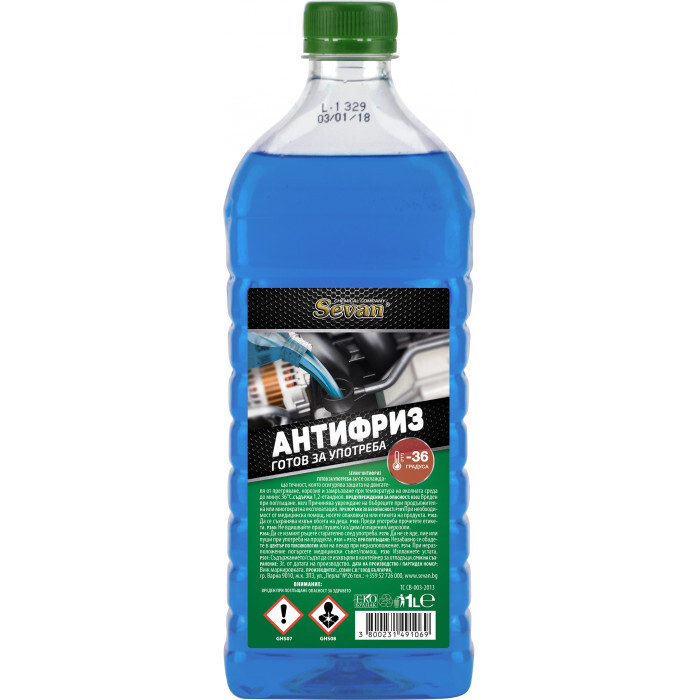 Антифриз син готов за употреба Sevan -36°С 1 L
