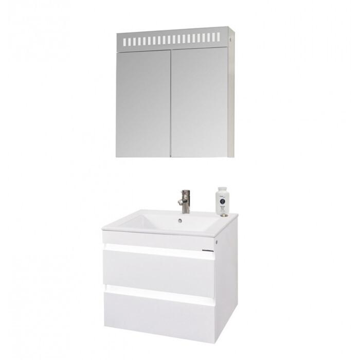 Горен шкаф за баня с огледало Макена Дона