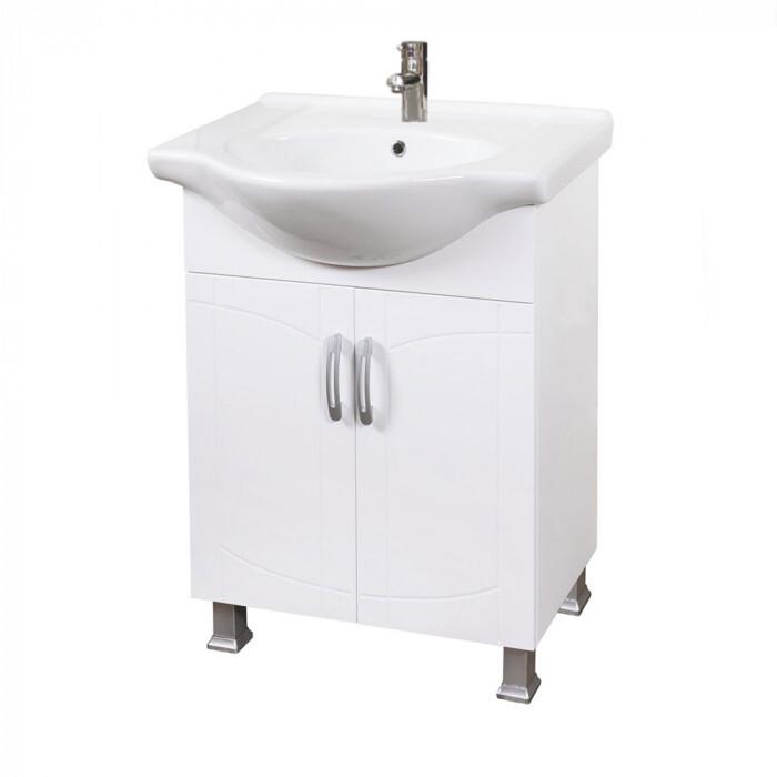 Долен PVC шкаф за баня с умивалник и плавно затваряне Корсика