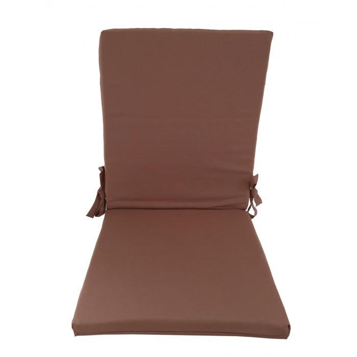 Възглавница за стол с цип 43х90х4см / капучино