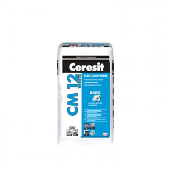 Еластично лепило за плочки Ceresit CM 12 Flex / бяло