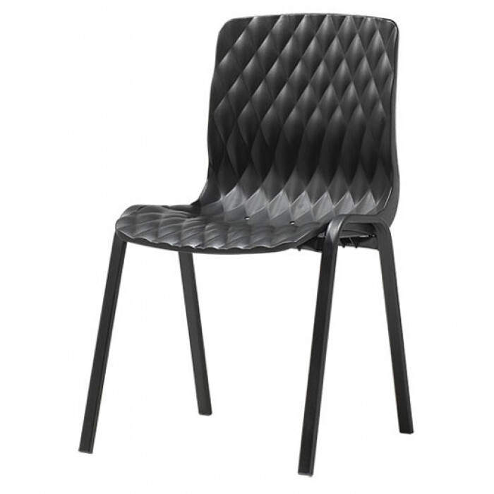 Градински черен стол Royal 52x50x83cm