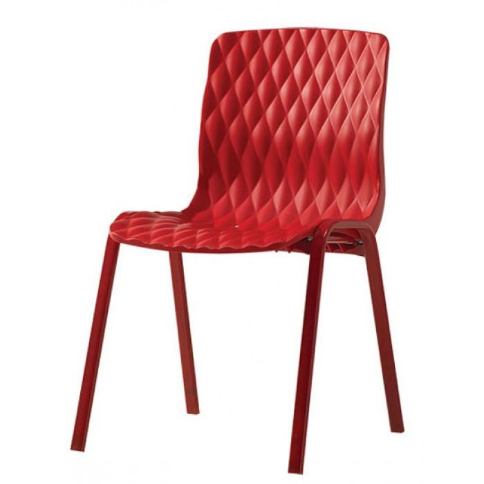 Градински червен стол Royal 52x50x83cm