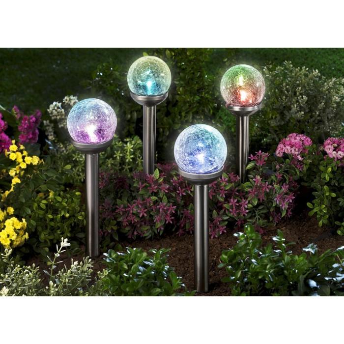 Соларна LED лампа за градина с променящи се цветове SS-6087