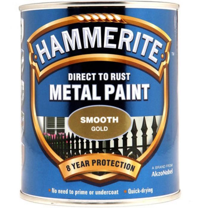 Боя за метал Hammerite гланц злато 750 мл