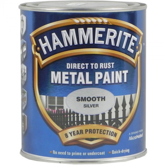 Боя за метал Hammerite гланц сребро 750 мл