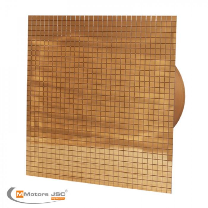Квадратен вентилатор за баня Mmotors ММР 100 06 златна мозайка 13W ø100 105m3/h