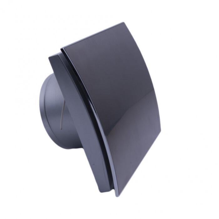 Овален вентилатор за баня ММР 100 06 черен гланц