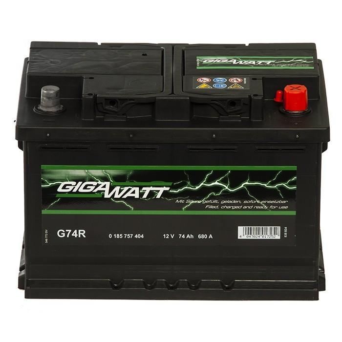 Стартерен акумулатор Gigawatt 74Ah / 12V