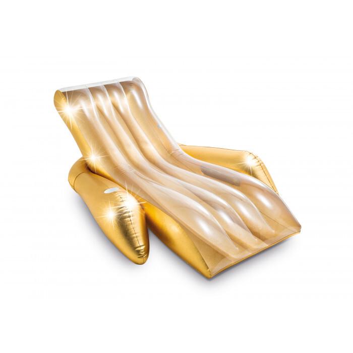 Надуваем шезлонг Intex Shimmering Gold 56803EU 175x119x61cm