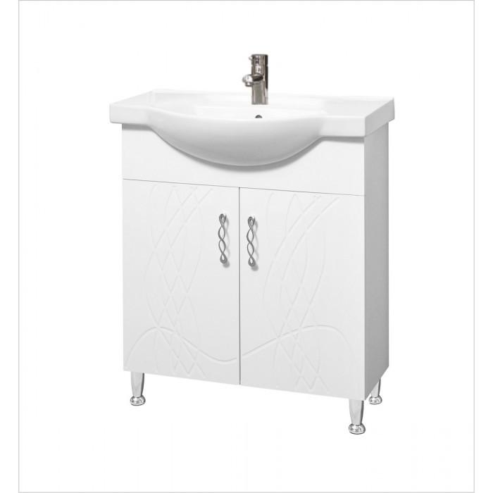 Долен шкаф за баня с умивалник Макена Мики