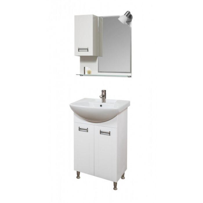 Горен шкаф за баня с огледало и осветление Макена Реа