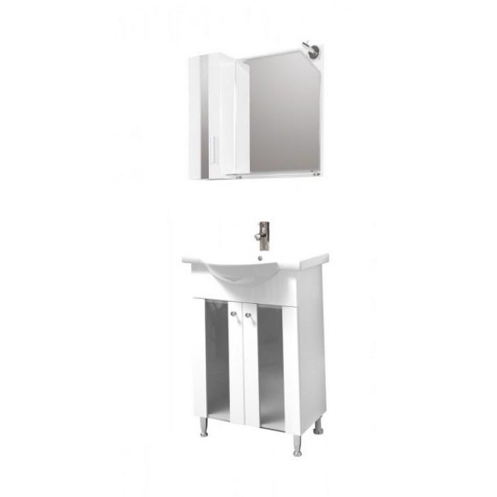 Горен шкаф за баня с огледало Макена Ники