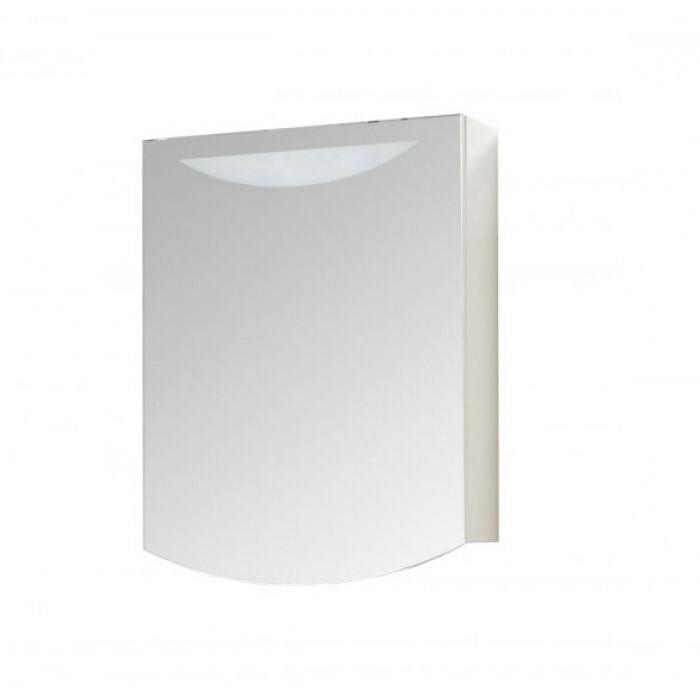 Горен шкаф за баня с огледало и LED осветление Макена Лолита