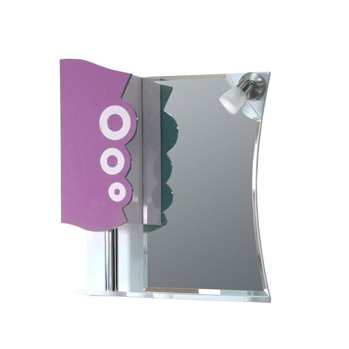 Горен шкаф за баня с огледало Макена Дропс