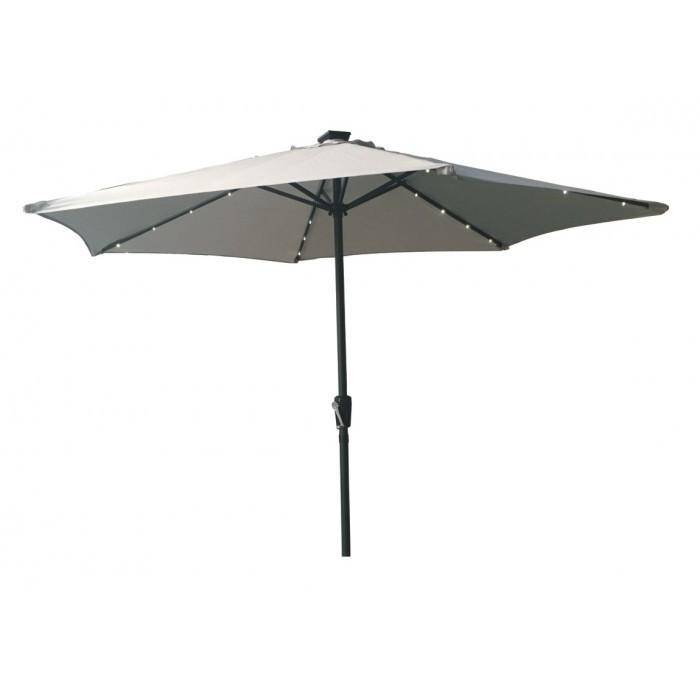 Градински чадър с LED лампи TLB005-LED-270 My Garden светлосив 2.70м