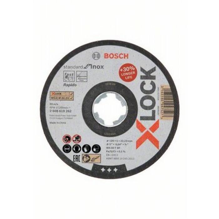 Прав диск за рязане Bosch X-Lock Standard for Inox WA60T BF 125x1x22.23mm