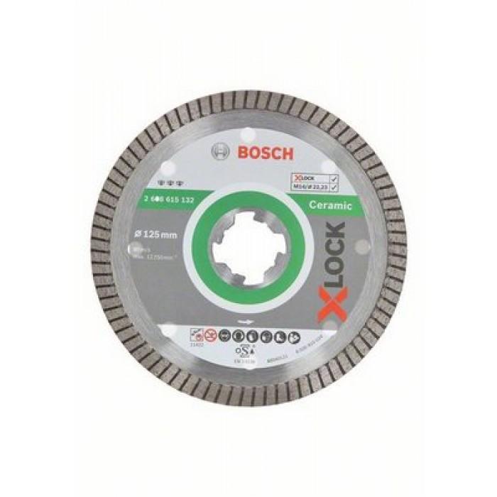 Диамантен диск Bosch X-Lock Best for Ceramic Extraclean Turbo 125x22,23x1,4x7mm