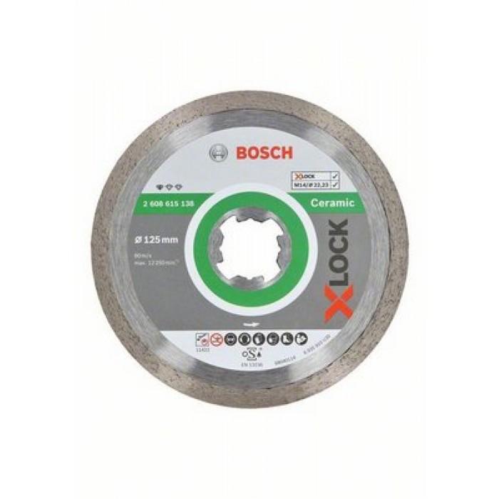 Диамантен диск Bosch X-Lock Standard for Ceramic 125x22,23x1,6x7mm