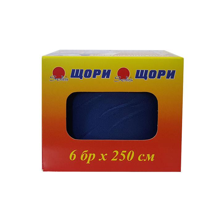 Ленти за вертикални щори 6 броя сини 250см Silk 220