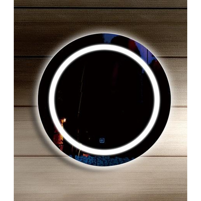 огледало кръгло с часовник Макена