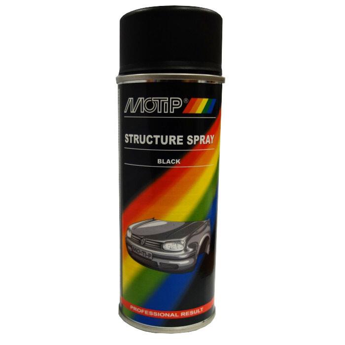 Спрей боя за структурен ефект черна MoTip 400мл