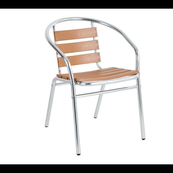 Градински стол от алуминий и дърво SC-017W My Garden