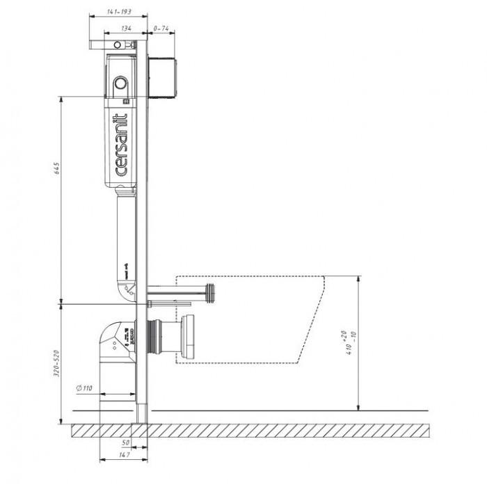Комплект структура за вграждане Cersanit Комплект 826