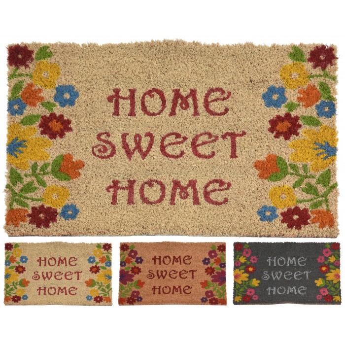 Изтривалка Кокос Home Sweet Home цветя 40х60см