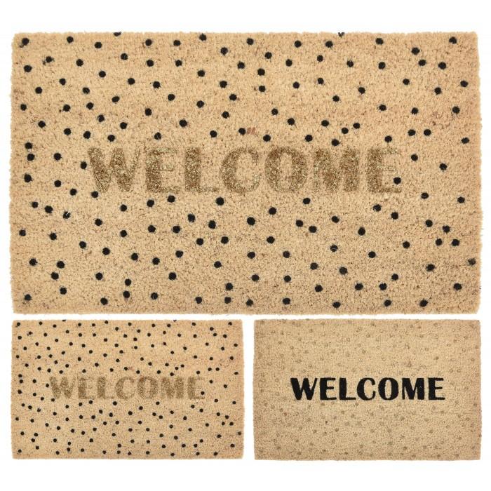 Изтривалка Кокос Welcome точки / 40х60см