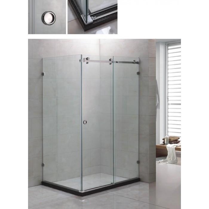 Квадратна душ кабина без корито с врата Cascada B-L1011 / 120х80х190см