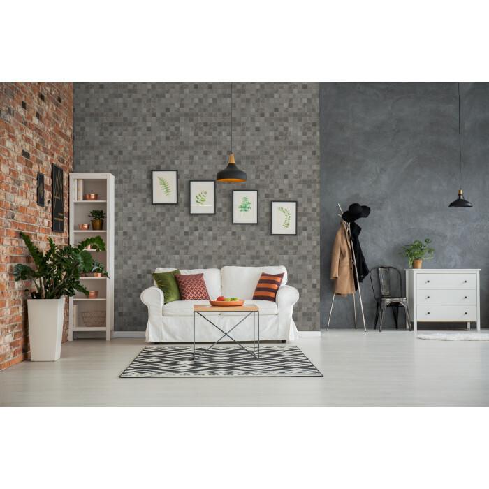 PVC ламперия Grosfillex Digital Print Mosaic Grey 35см/2.6м