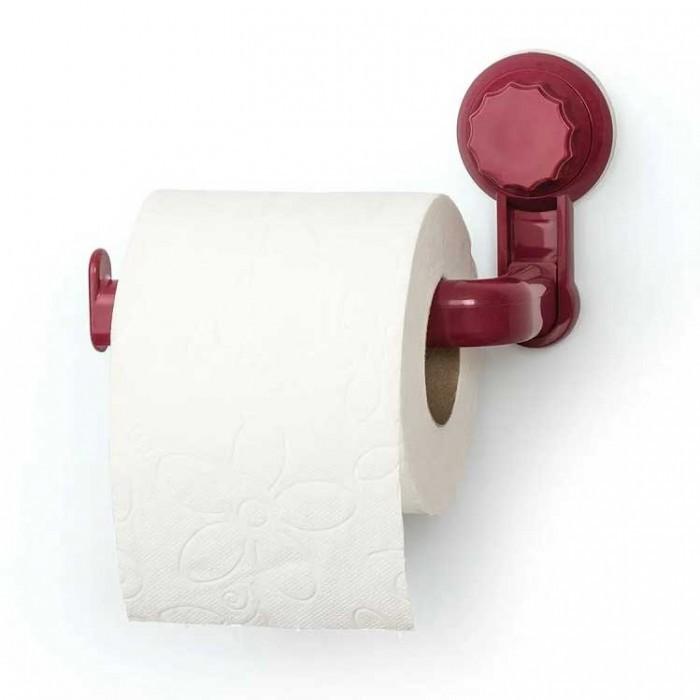Пластмасова поставка за тоалетна хартия Freehome OKY-683 червена
