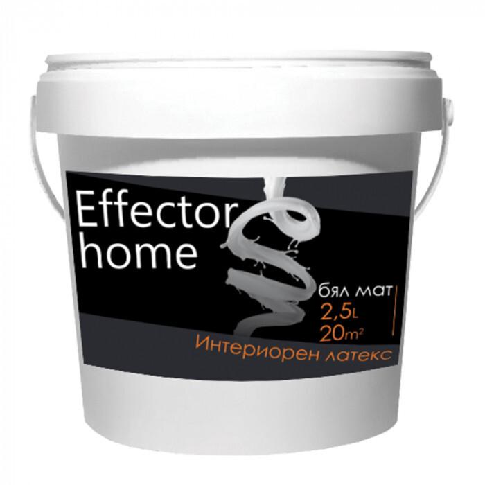Интериорен дишащ латекс Effector 2,5л бял мат