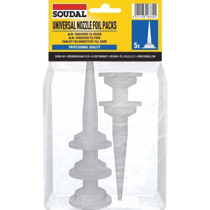 Пластмасови накрайници за уплътнители 600мл Soudal 5 броя