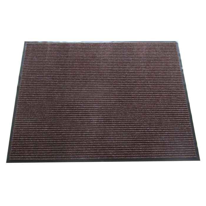 Изтривалка текстил+гума CM1002 кафява / рифел 90x120см