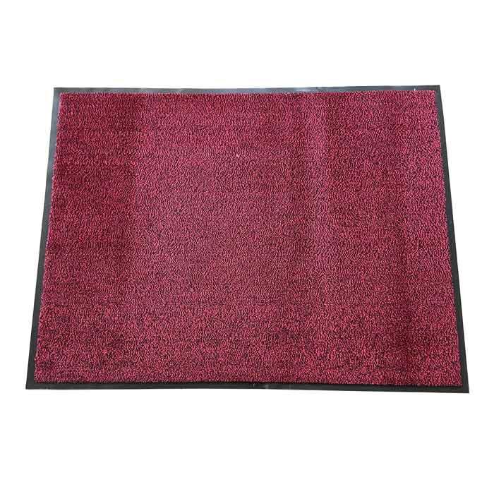 Изтривалка текстил+гума CM1005 червена / гладка 90x120см
