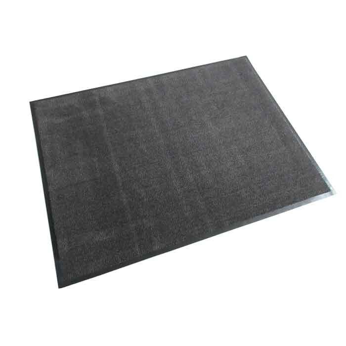 Изтривалка текстил+гума CM3004 сива / гладка 90x120см