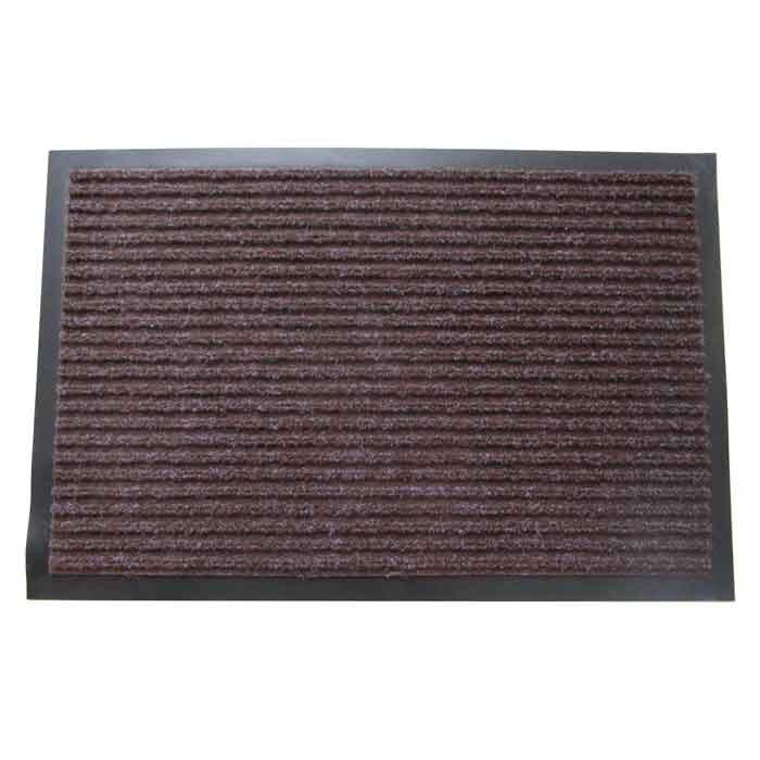Изтривалка текстил+гума CM1002 кафява / рифел 40x60см