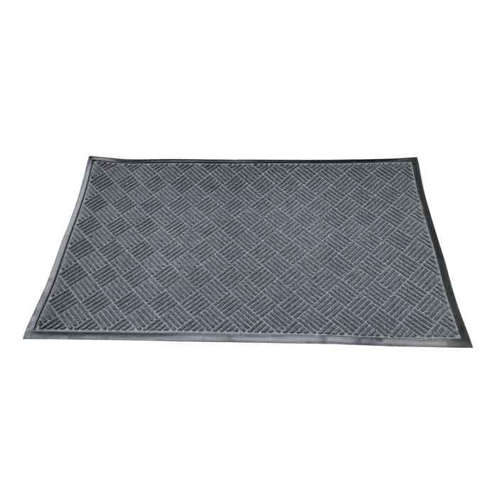 Изтривалка текстил+гума CMRB901502 сива / рифел квадрати 90х150см