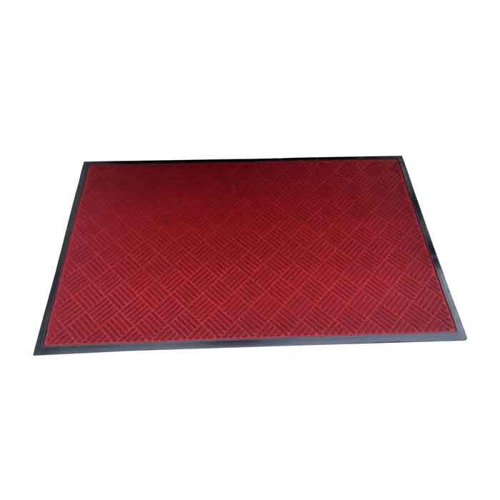 Изтривалка текстил+гума CMRB901502 червена / рифел квадрати 90х150см