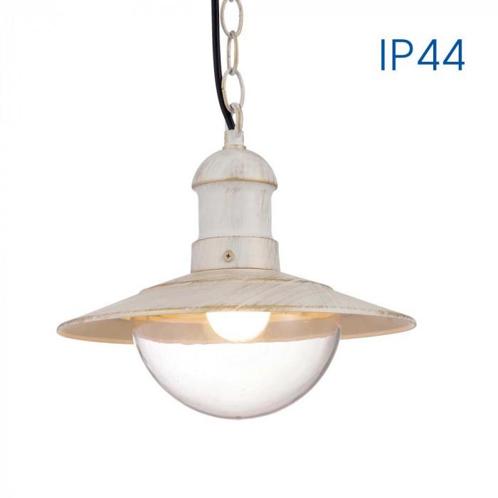Висящ градински фенер Riviera H010/WH бял E27