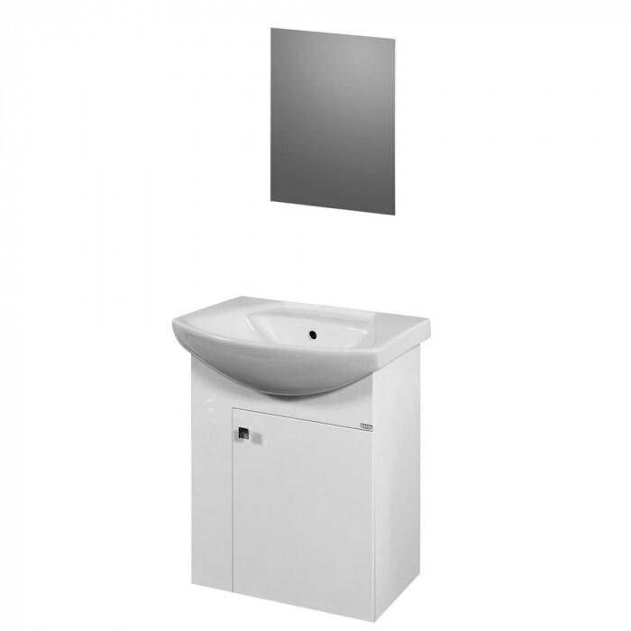 Промо комплект шкаф за баня Макена Вики с огледало + смесител Макена Ники