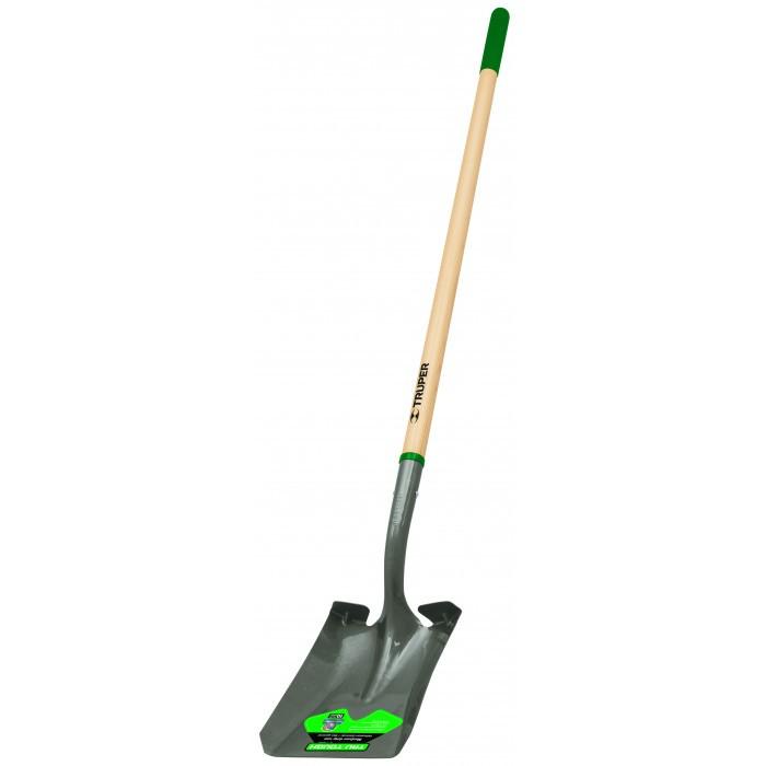 Правоъгълна лопата Truper 10 Year с дълга дървена дръжка
