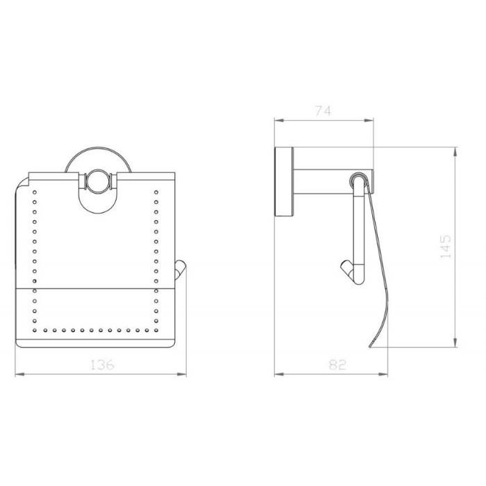 Поставка за тоалетна хартия с капак Makena Round черен мат