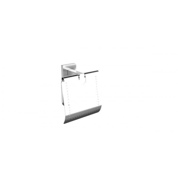 Поставка за тоалетна хартия с капак Makena Square хром