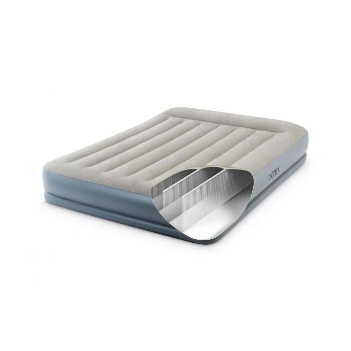 Надуваем дюшек Intex Pillow Rest Mid-Rise Airbed 64118NP / 152х203х30см