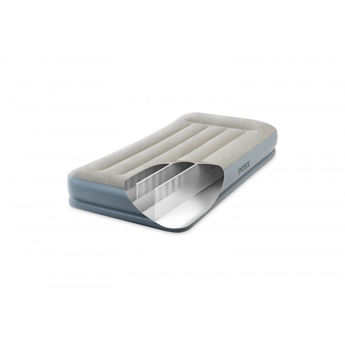 Надуваем дюшек Intex Pillow Rest Mid-Rise Airbed 64116NP / 99х191х30см